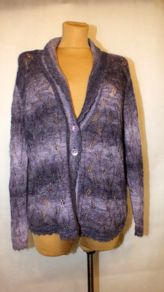 Fioletowy sweterek Plus Size Rozmiar 56