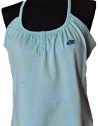 OKAZJA Nike Gym nowa z metką Top Fitness L XL baby blue tank da...