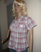 Bawełniana bluzka koszulowa w kratę...
