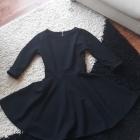 Czarna sukienka rozkloszowana rozmiar 36