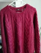 H&M bordowy sweter