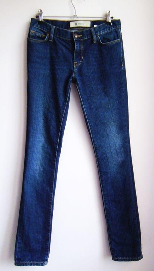 Spodnie TANIO jeansy rurki skinny klasyczne granatowe