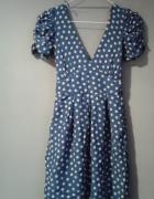 Sukienka w kropki bufki xs