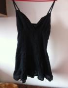 House mini sukienka czarna na szelkach XS S M...