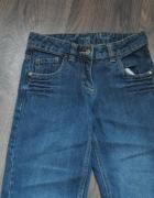 Dzinsowe spodnie dziewczęce 140...