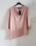 NOWA Reserved bluza brudny róż asymetryczna