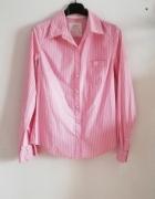 H&M koszula paski pudrowy róż basic...