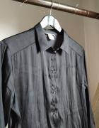 Jak satynowa koszula 38 M H&M czarna zwiewna błyszcząca...