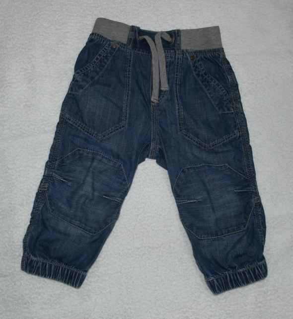Dzinsowe spodnie ciemny niebieski 86...