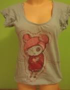 Bluzka tshirt koszulka emo serce...