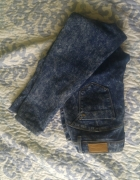 Jeansy marmurkowe rurki XL...