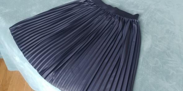 Spódnice Plisowana granatowa spódnica