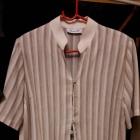 Kostium Spodnie Tunika Beż Cream Pasy brąz