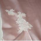 Halka COEMI satyna koronka róż biel koszulka nocna S