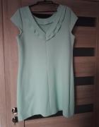 miętowa sukienka 42