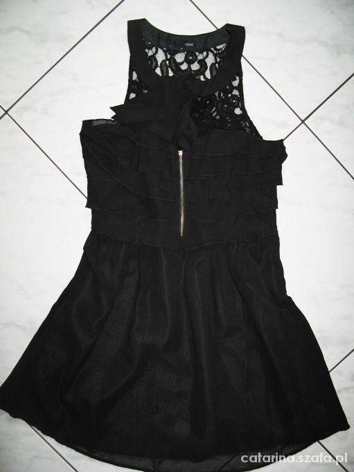 NEXT czarna sukienka koronka MUST HAVE roz 38