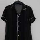 Czarna koszula mgiełka Zara rozmiar M