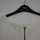 Bluzka ecru krótki rękaw elegancka Zara S