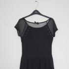Czarna elegancka sukienka rozmiar S House koronka