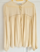Nowa bluzka tunika Mango L 40 kremowa ecru zwiewna...