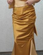 Sukienka złota długa na wesela i inne okazje 36...