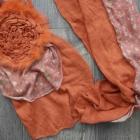 Chusta szal w pomarańczowym kolorze