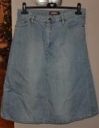 świetna spódnica jasny dżins DenimCo 42...