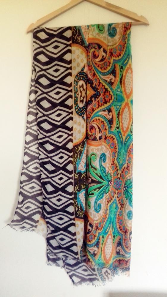Chusty i apaszki kolorowy szal