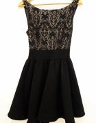 czarna sukienka 38 bal studniówka...