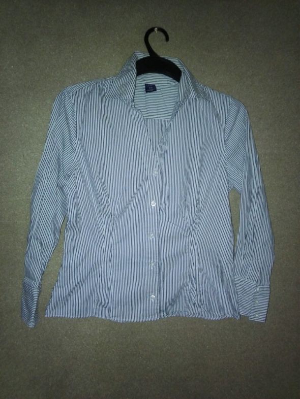 Elegancka taliowana koszula w paski 38 Gap