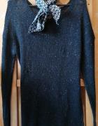 Długi czarny sweter cekiny...