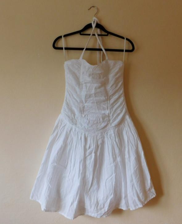 Suknie i sukienki George biała sukienka sexy 36 38