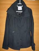 Czarny płaszcz 38 M...