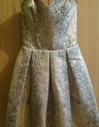 Sukienka w wężowy wzór Franceska Fashion r36 NOWA na sylwestra...