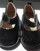Nowe czarne buciki dla dziewczynki baleriny 16 17