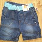 Jeansowe krótkie spodenki chłopięca i bluzka z krótkim rękawem 80