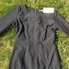 Nowa czarna prosta sukienka z rękawem 3 4 do pracy biura M 38