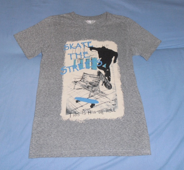 Wygodny szary Tshirt aplikacja 1112 l 146 152