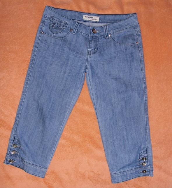 Spodenki Spodnie jeansowe rybaczki ozdobne kieszenie 40