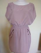 Sukienka beżowa H&M