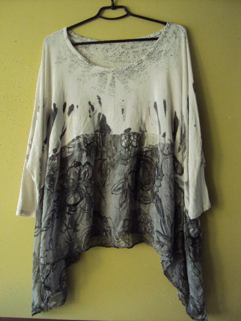 bluzka oversize z jedwabiem...