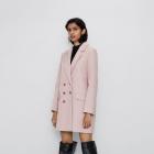 Zara płaszcz dwurzędowy różowy nowy M 38