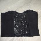 H&M bralet gorset czarny 38 M