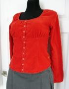 Sztruksowa bluzka z okrągłym dekoltem Cotton Club