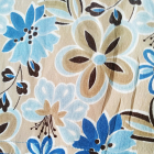 Beżowo niebieska spódnica kwiaty Paul Harris Design M 38
