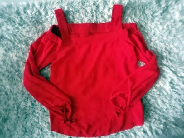 Bluzka hiszpanka czerwona odkryte ramiona XXS Atmosphere
