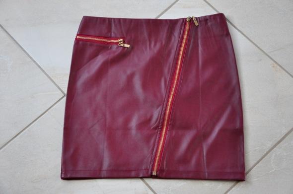 Spódnice bordowa spódniczka ecoskórka NOWA