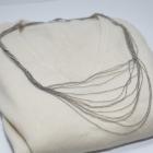 Srebrny naszyjnik lancuszki lancuch wisiorek