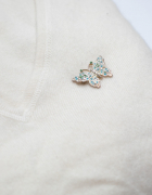Śliczna srebrna broszka motylek...