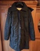 Czarna kurtka zimowa płaszcz rozmiar S...
